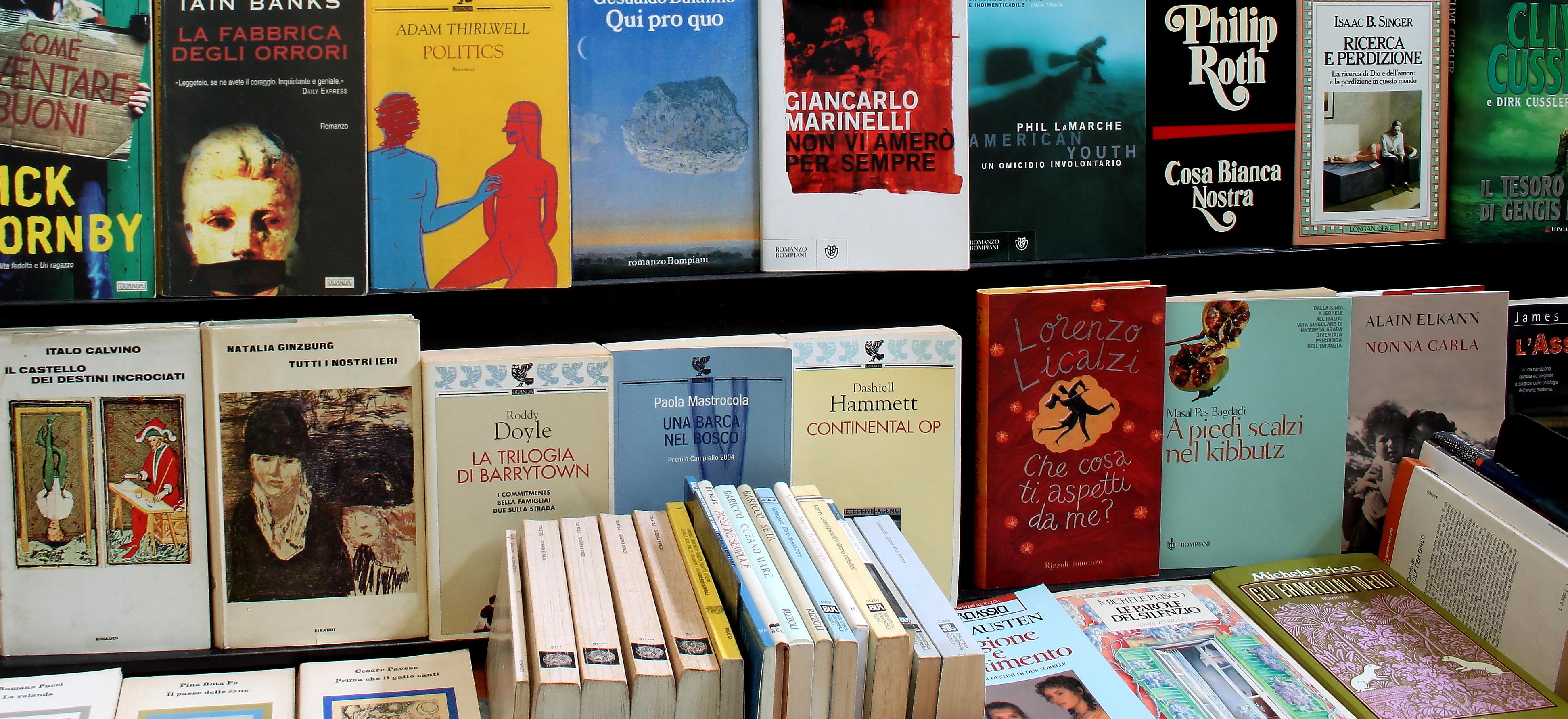 Libri usati nel negozio di Milano