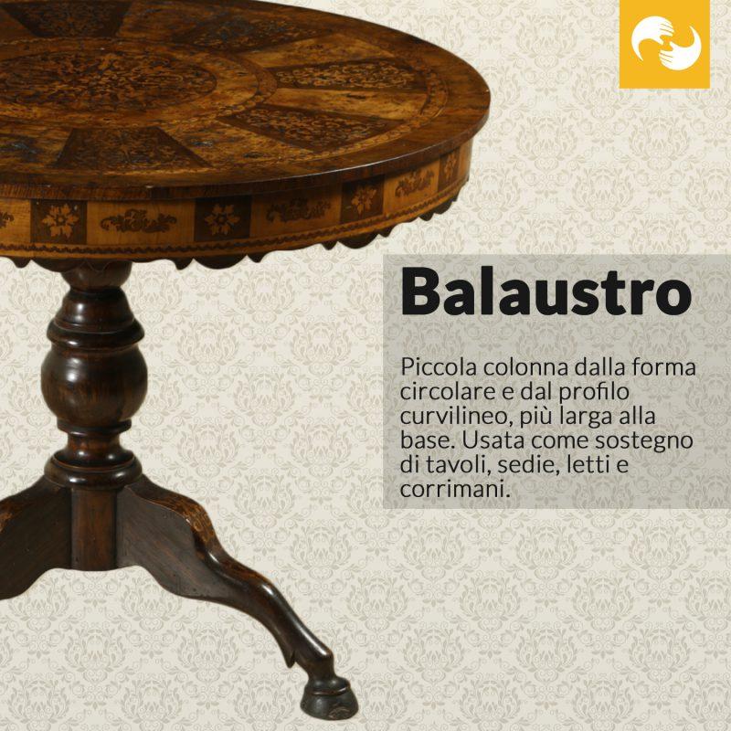 Balaustro Glossario Antiquario