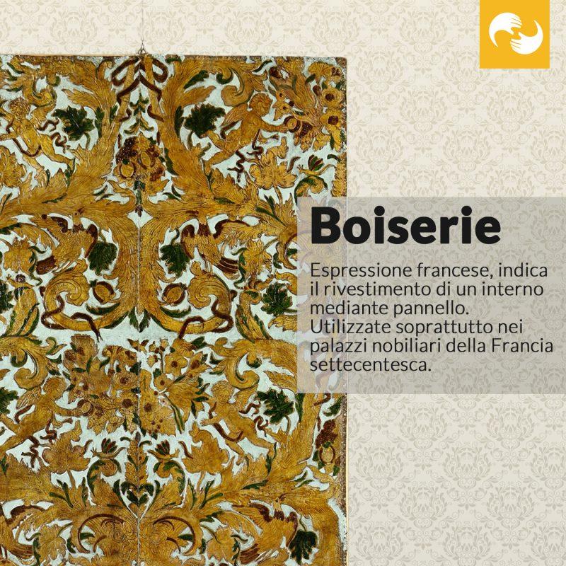 Boiserie Glossario Antiquario