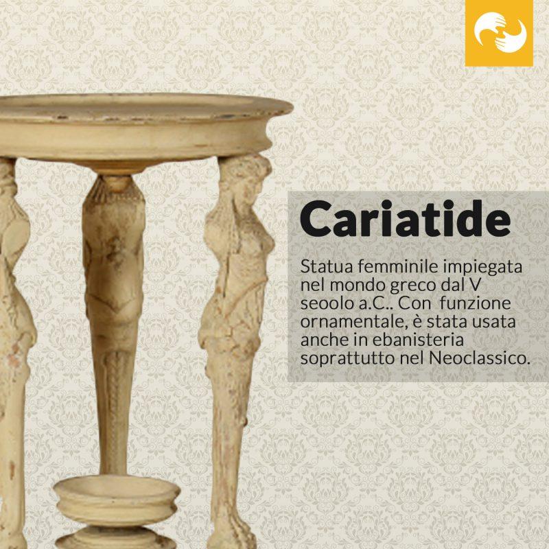 Cariatide Glossario Antiquario