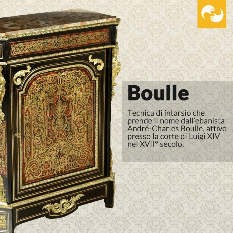 Boulle Glossario Antiquario
