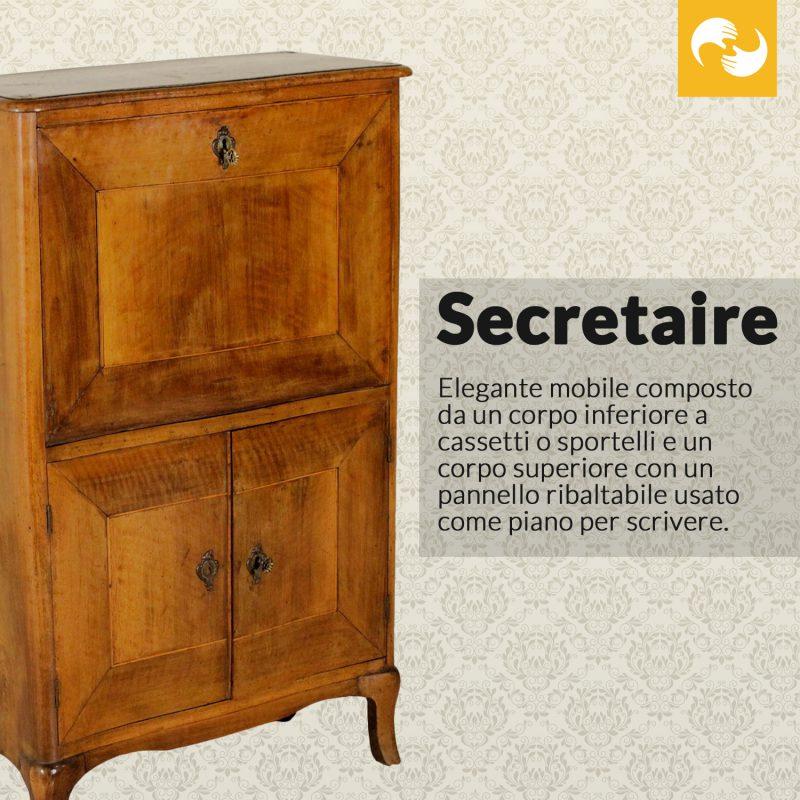 Secretaire Glossario Antiquario