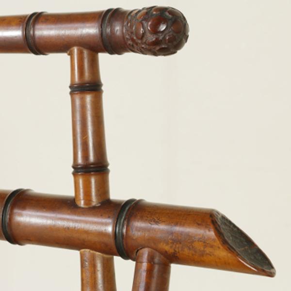 Sedia in Acero Intagliate a finto bambù