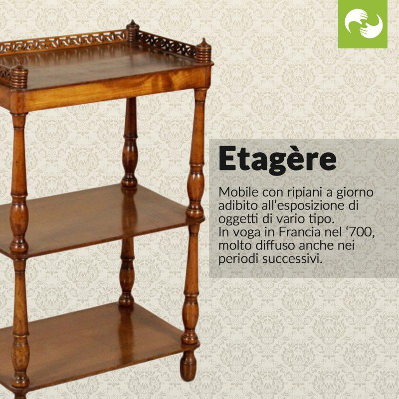 Etagère Glossario Antiquario