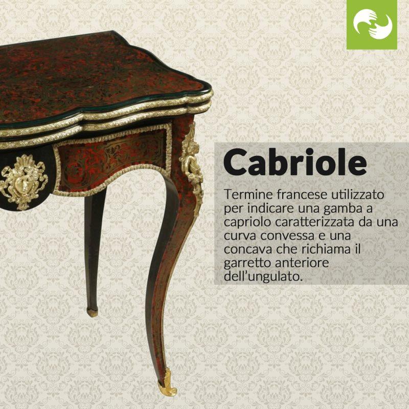 Cabriole Glossario Antiquario