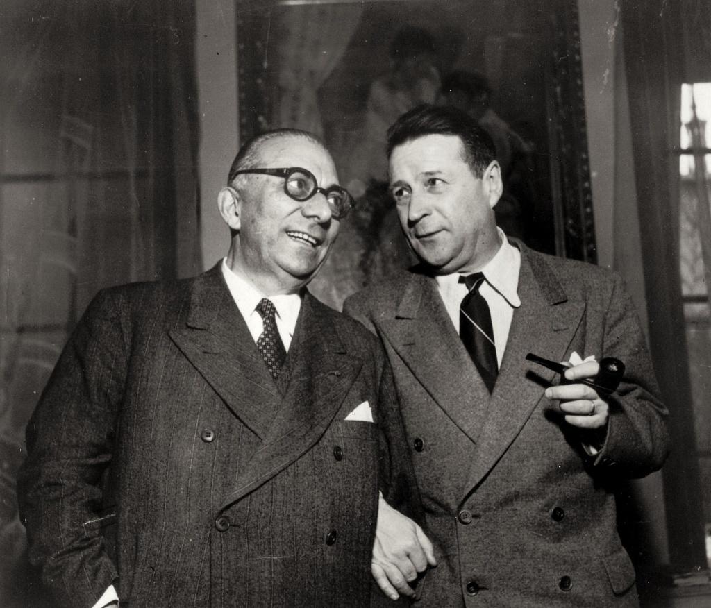 Arnoldo Mondadori e Georges Simenon